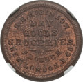 Civil War Merchants, 1863 H.H. Robinson, Groceries, New London, OH, MS65 Brown NGC.Fuld-OH620A-3a....