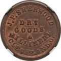 Civil War Merchants, 1863 J.P. Sherwood, Dry Goods, Cleveland, OH, MS64 Red and BrownNGC. Fuld-OH175N-1a....
