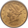 Liberty Double Eagles: , 1883-S $20 MS62 PCGS. PCGS Population (710/189). NGC Census:(410/74). Mintage: 1,189,000. Numismedia Wsl. Price for proble...
