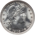 Barber Quarters: , 1908 25C MS64 NGC. NGC Census: (62/17). PCGS Population (74/51).Mintage: 4,232,545. Numismedia Wsl. Price for problem free...