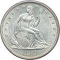 Seated Half Dollars: , 1861 50C MS61 PCGS. PCGS Population (14/209). NGC Census: (21/194).Mintage: 2,888,400. Numismedia Wsl. Price for problem f...