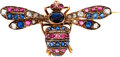Estate Jewelry:Brooches - Pins, Antique Sapphire, Ruby, Diamond, Gold Brooch. ...