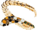 Estate Jewelry:Bracelets, Diamond, Aventurine, Enamel, Gold Bracelet. ...