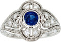 Estate Jewelry:Rings, Art Deco Sapphire, Diamond, Platinum Ring, Tiffany & Co.. ...