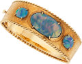 Estate Jewelry:Bracelets, Opal Triplet, Gold Bracelet. ...