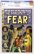 "Golden Age (1938-1955):Horror, Haunt of Fear #4 Gaines File pedigree 7/9 (EC, 1950) CGC VF+ 8.5Off-white to white pages. ""The best job Wallace Wood ever d..."