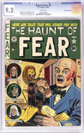 "Golden Age (1938-1955):Horror, Haunt of Fear #8 Gaines File pedigree (EC, 1951) CGC NM- 9.2 Whitepages. Al Feldstein's shrunken head cover is called ""clas..."