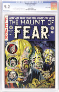 "Golden Age (1938-1955):Horror, Haunt of Fear #17 Gaines File pedigree 9/12 (EC, 1953) CGC NM- 9.2White pages. It's ""putrefaction guaranteed"" on this class..."