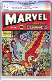Marvel Mystery Comics #28 (Timely, 1942) CGC FN/VF 7.0 Off-white pages. This very strictly graded copy is sure to please...