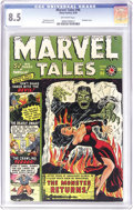 Golden Age (1938-1955):Horror, Marvel Tales #96 (Atlas, 1950) CGC VF+ 8.5 Off-white pages. SydShores contributed a great bondage cover to this issue. Mike...