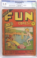 Platinum Age (1897-1937):Miscellaneous, More Fun Comics #10 (DC, 1936) CGC GD+ 2.5 Cream to off-whitepages. Like all of the early issues of this title, this one's ...
