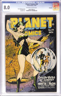 Golden Age (1938-1955):Science Fiction, Planet Comics #39 Big Apple pedigree (Fiction House, 1945) CGC VF8.0 Off-white to white pages. Mysta of the Moon made her s...