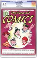 Platinum Age (1897-1937):Miscellaneous, Popular Comics #4 (Dell, 1936) CGC VG/FN 5.0 Cream to off-whitepages. This early issue of Dell's first series may not exist...