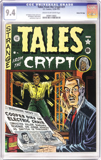 Tales From the Crypt #21 Gaines File pedigree 10/10 (EC, 1951) CGC NM 9.4 Cream to off-white pages. All the ingredients...