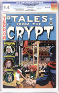 Golden Age (1938-1955):Horror, Tales From the Crypt #27 Gaines File pedigree 12/12 (EC, 1951) CGCNM 9.4 Off-white pages. A guillotine cover by Wally Wood ...