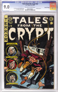 Golden Age (1938-1955):Horror, Tales From the Crypt #44 Gaines File pedigree 7/12 (EC, 1954) CGCVF/NM 9.0 Off-white to white pages. A guillotine cover is ...