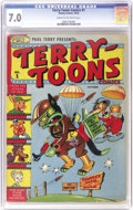 Golden Age (1938-1955):Funny Animal, Terry-Toons Comics #1 (Timely, 1942) CGC FN/VF 7.0 Cream tooff-white pages. The highest-graded copy of a Timely #1? That sh...