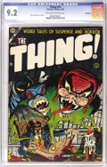 Golden Age (1938-1955):Horror, The Thing! #13 Bethlehem pedigree (Charlton, 1954) CGC NM- 9.2Off-white to white pages. Early Steve Ditko art is a real tre...