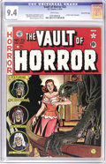 Golden Age (1938-1955):Horror, Vault of Horror #23 Gaines File pedigree 7/12 (EC, 1952) CGC NM 9.4White pages. Jack Davis did double duty on this issue, a...