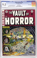 Golden Age (1938-1955):Horror, Vault of Horror #27 Gaines File pedigree 8/12 (EC, 1952) CGC NM-9.2 White pages. The art of Johnny Craig graces this issue'...
