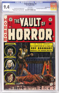 Golden Age (1938-1955):Horror, Vault of Horror #31 Gaines File pedigree 6/12 (EC, 1953) CGC NM 9.4White pages. The most gruesome EC cover? This one by Joh...