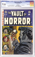 Golden Age (1938-1955):Horror, Vault of Horror #32 Gaines File pedigree 10/11 (EC, 1953) CGC NM+9.6 White pages. EC censored itself on this cover, which o...
