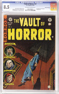 Golden Age (1938-1955):Horror, Vault of Horror #37 Gaines File pedigree 6/12 (EC, 1954) CGC VF+8.5 Off-white to white pages. It's the first appearance of ...