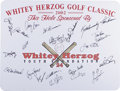 Autographs:Others, St. Louis Cardinals Signed Golf Classic Sign. Twenty-two formermembers of the St. Louis Cardinals organization offer pristi...