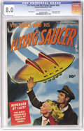 Golden Age (1938-1955):Science Fiction, Vic Torry & His Flying Saucer #nn (Fawcett, 1950) CGC VF 8.0Cream to off-white pages. This one-shot comic took its theme fr...