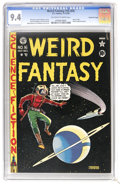Golden Age (1938-1955):Science Fiction, Weird Fantasy #16 (#4) Gaines File pedigree 11/11 (EC, 1950) CGC NM9.4 Off-white to white pages. Al Feldstein presented us ...
