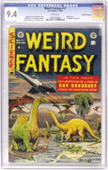 Golden Age (1938-1955):Science Fiction, Weird Fantasy #17 Gaines File pedigree 12/12 (EC, 1953) CGC NM 9.4 White pages. Al Feldstein provides a cover with the brill...