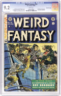 Golden Age (1938-1955):Science Fiction, Weird Fantasy #19 (EC, 1953) CGC NM- 9.2 White pages. Joe Orlando makes the most of a rare cover assignment, one of just two...