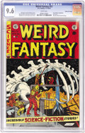 Golden Age (1938-1955):Science Fiction, Weird Fantasy #22 Gaines File pedigree 11/11 (EC, 1953) CGC NM+ 9.6White pages. This was the last issue of the comic before...