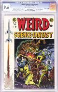 Golden Age (1938-1955):Science Fiction, Weird Science-Fantasy #27 Gaines File pedigree 7/12 (EC, 1955) CGCNM+ 9.6 Off-white to white pages. This issue features the...