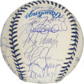 Autographs:Baseballs, 1999 New York Yankees Team Signed Baseball. The World ChampionshipYankees turn out in force (twenty-seven autographs in all...