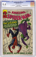 Silver Age (1956-1969):Superhero, The Amazing Spider-Man #6 (Marvel, 1963) CGC NM 9.4 Cream tooff-white pages. The Lizard, one of Spider-Man's most memorable...