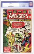 Silver Age (1956-1969):Superhero, The Avengers #1 (Marvel, 1963) CGC VF- 7.5 Off-white pages. Newtitles were coming fast and furiously from Stan Lee's House ...