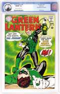Silver Age (1956-1969):Superhero, Green Lantern #59 Pacific Coast pedigree (DC, 1968) CGC NM/MT 9.8 Off-white to white pages. Here's the finest known copy of ...