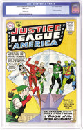 Silver Age (1956-1969):Superhero, Justice League of America #4 (DC, 1961) CGC NM- 9.2 Off-white pages. Green Arrow joins the Justice League in this issue. It ...