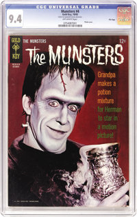 Munsters File Copies CGC Group (Gold Key, 1965-68). Included here are CGC NM 9.4 copies of #4, 7, 11, 12, 13, 14, 15, an...