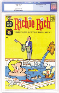 Richie Rich #1 File Copy (Harvey, 1960) CGC NM 9.4 Cream to off-white pages. Harvey keys in high grade command tremendou...