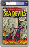 Silver Age (1956-1969):Superhero, Sea Devils #19 Pacific Coast pedigree (DC, 1964) CGC NM 9.4 White pages. Biff Bailey and Nicky Walton are in a jam, and Dane...
