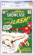 Silver Age (1956-1969):Superhero, Showcase #8 The Flash (DC, 1957) CGC VF 8.0 Off-white pages. What'sthe hardest Silver Age key to find in high grade? We'd s...