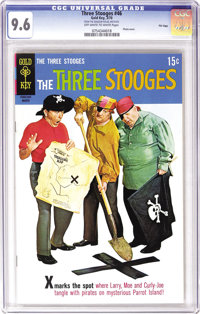 Three Stooges File Copies CGC Box Lot (Gold Key, 1963-70). This full box of slabbed copies offers plenty of nyuks for yo...