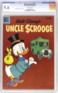 Uncle Scrooge #32 (Dell, 1960) CGC NM+ 9.6 Off-white pages. Why a duck? Well, this is the sole highest-graded copy as of...