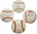 Autographs:Baseballs, St. Louis Cardinals All-Time Greats Single Signed Baseballs Lot of4. Fans of the Redbirds will love the chance to own this...