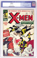 "Silver Age (1956-1969):Superhero, X-Men #1 (Marvel, 1963) CGC FN 6.0 Off-white to white pages. Toutedas ""The Strangest Super-Heroes Of All!"", the group indee..."