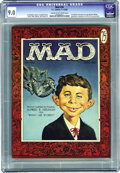 Magazines:Mad, Mad #30 (EC, 1956) CGC VF/NM 9.0 Cream to off-white pages. NormanMingo established the classic look of Alfred E. Neuman wit...