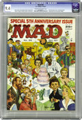 Magazines:Mad, Mad #35 (EC, 1957) CGC NM 9.4 Cream to off-white pages. One of the more underrated early Mad covers is this wraparound e...