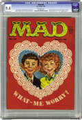 Magazines:Mad, Mad #45 (EC, 1959) CGC NM 9.4 Off-white pages. This Valentine's Dayissue features cover art by Kelly Freas, starring Alfred...